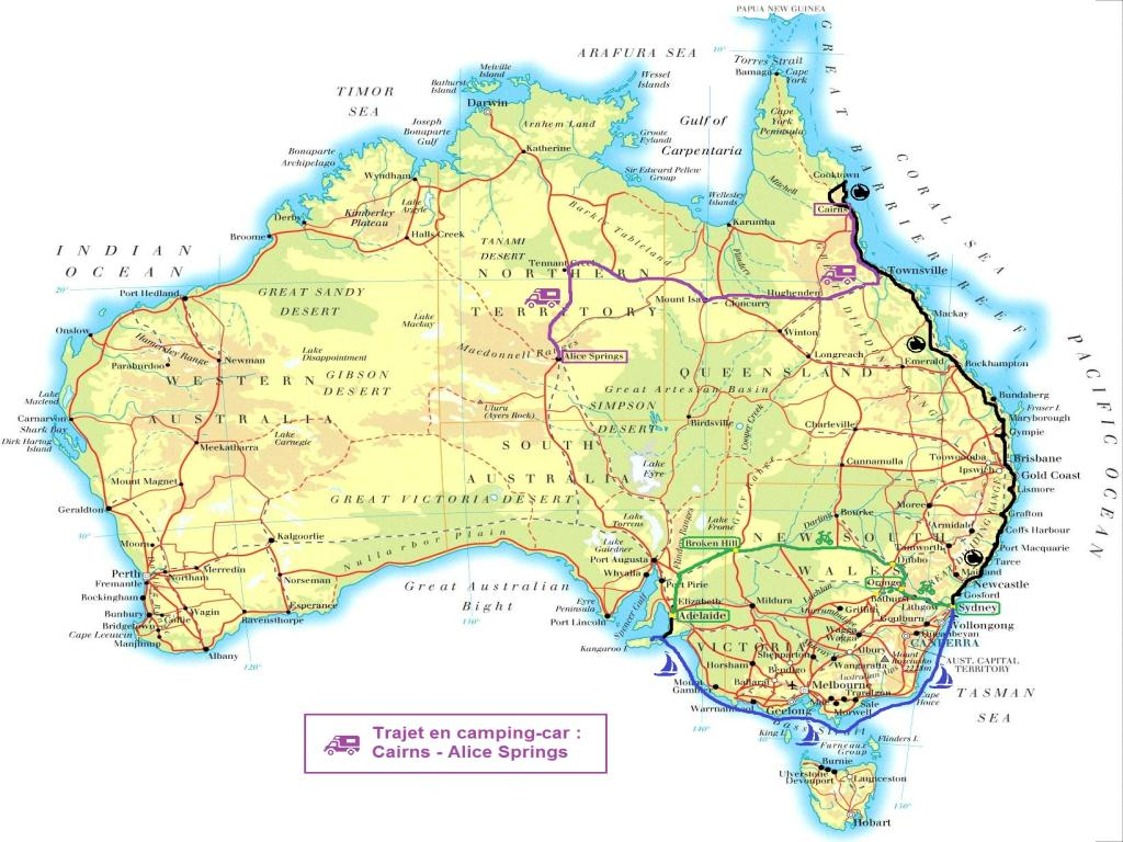 AustraliaMap_itineraire_5_Cairns-AS