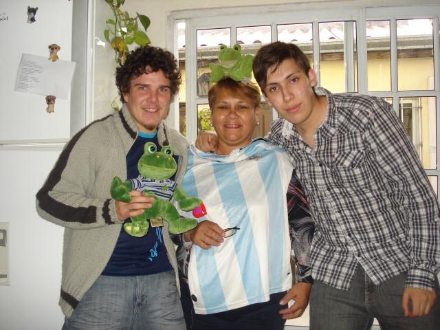 Cadeau: le maillot argentin pour representer le pays en Amerique du Sud