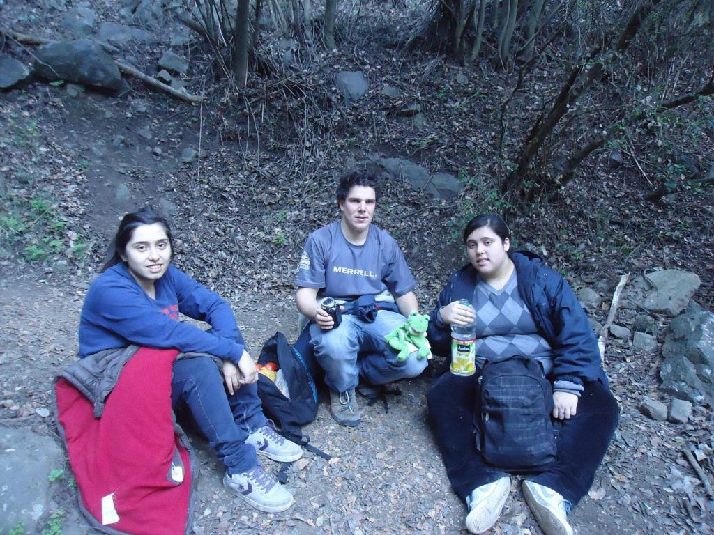 Pause dans la Campana en compagnie de Estefania (droite) et sa soeur