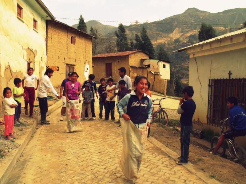 Course à Sacs à Sorata en Bolivie
