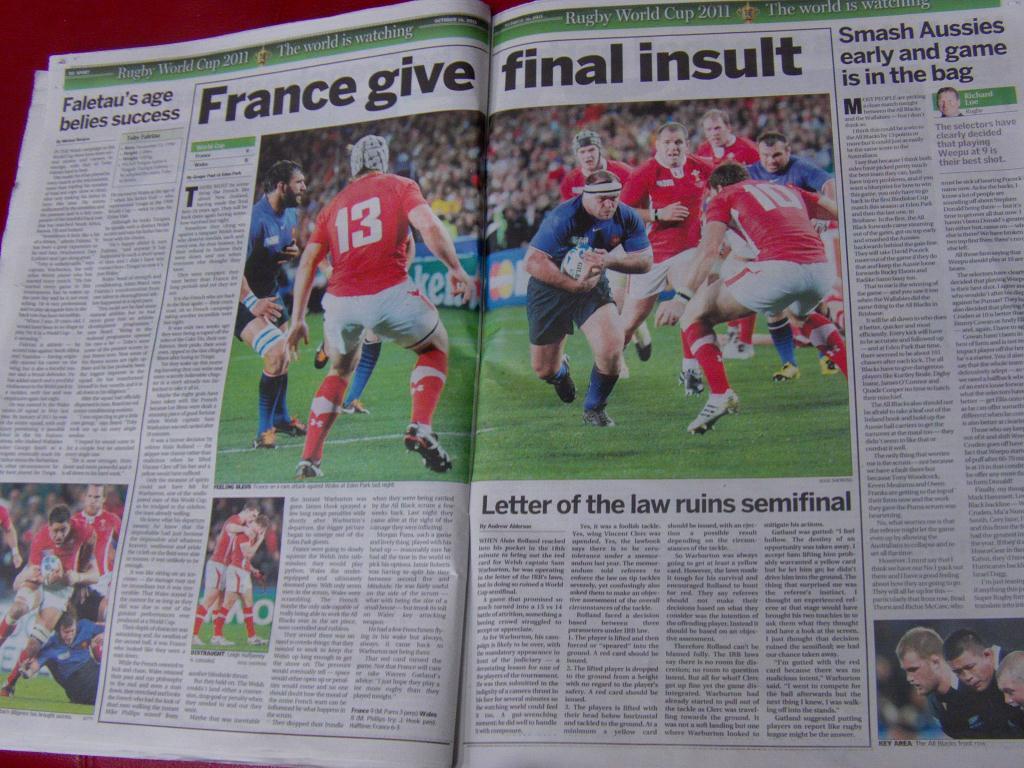 C'est une insulte pour le rugby de voir la France en finale...