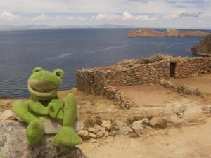 Guizmo a l´ile du Soleil au Lac Titicaca
