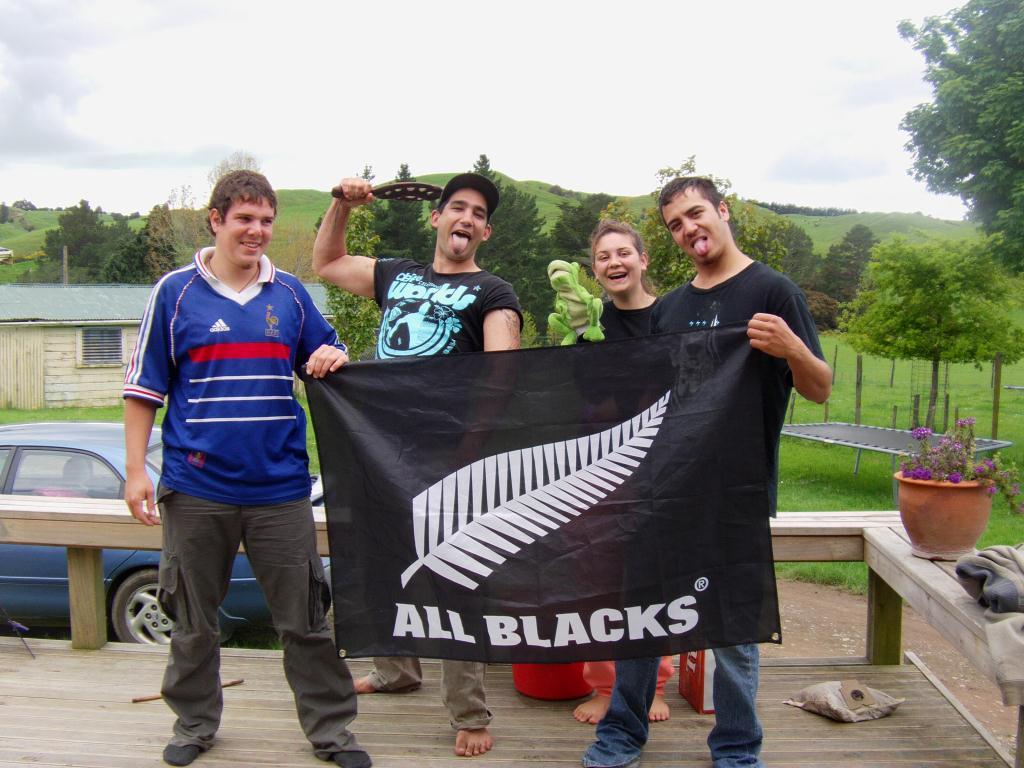 Invité par une famille de Maori