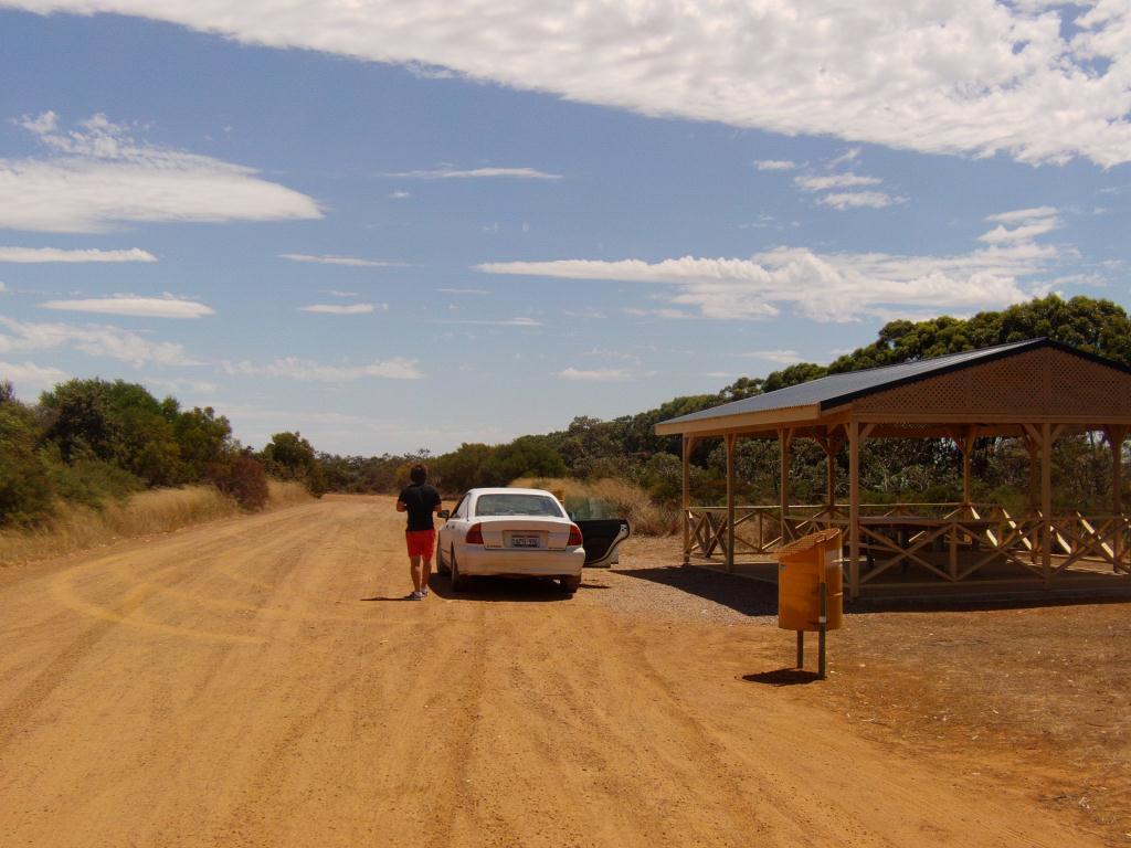 aire de repos dans le desert Australien