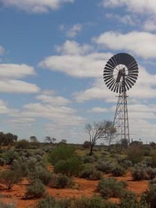 Pompe a eau dans l'outback Australien