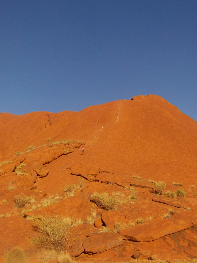 Chaine pour grimper au sommet d'Uluru