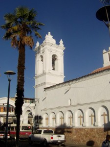 Eglise a Sucre en Bolivie