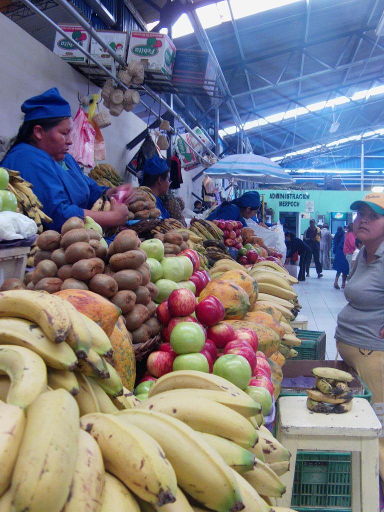 marché en Bolivie
