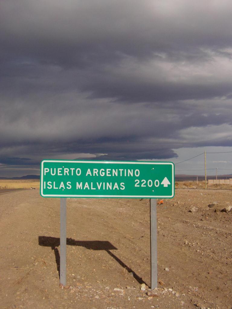 signalisation au milieu de la Pampa