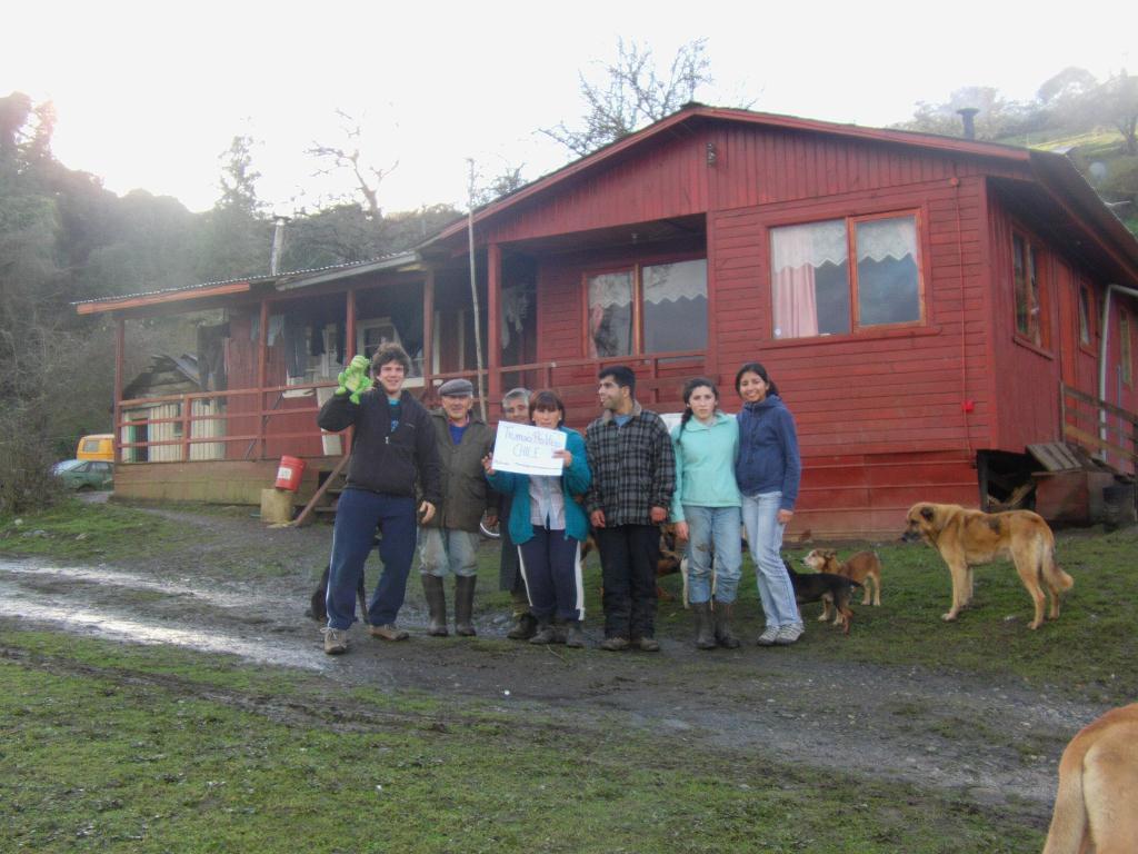 Maison en bois dans la campagne du Chili