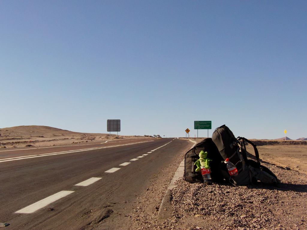Autostop dans le desert d´Atacama