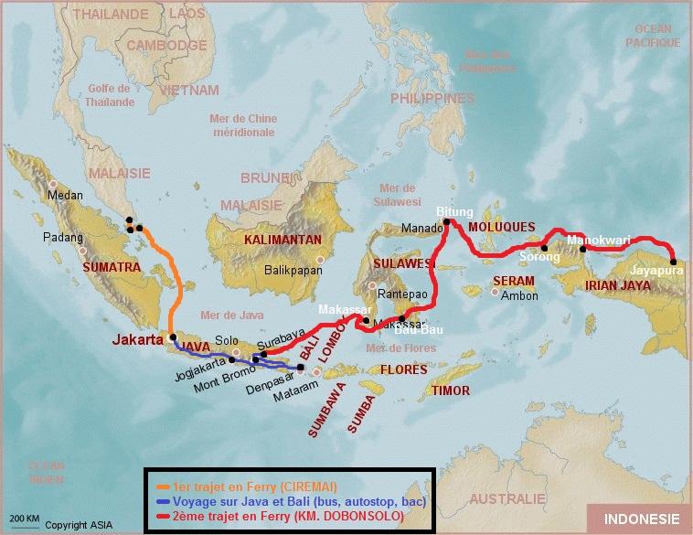 MAP Indonésie + Itinéraire FINAL