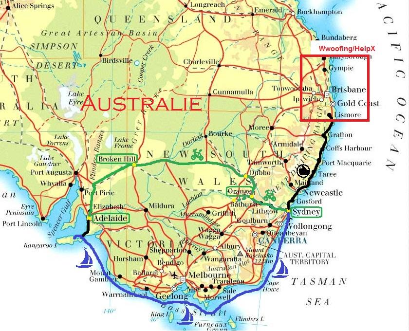 Map_Wwoofing-HelpX_Australie
