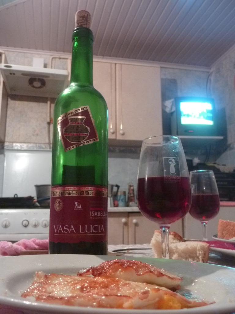 Repas chez Salvelie en Moldavie