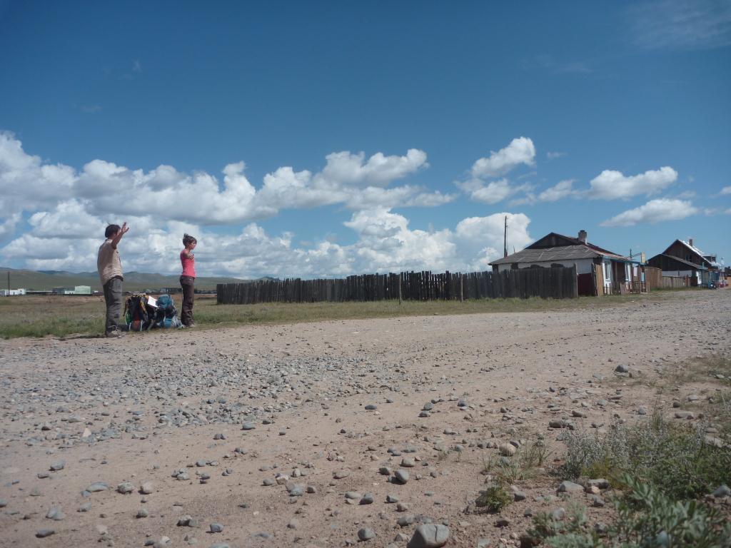 Autostop en Mongolie