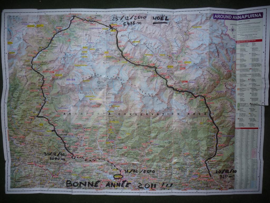 Notre itinéraire de 10 jours de trek autour des Annapurnas