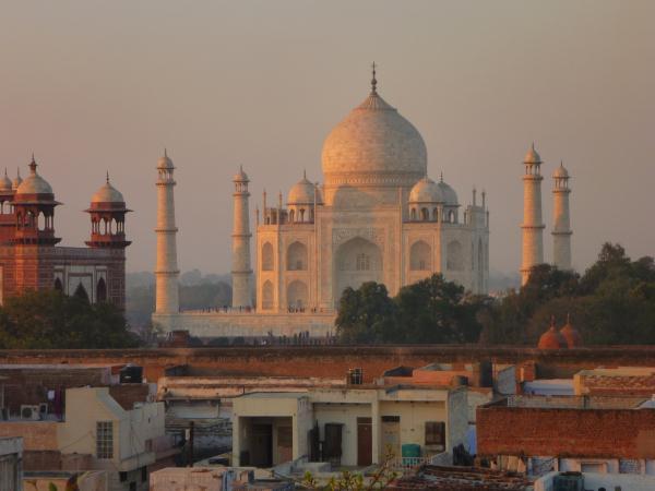 P1090768 - Taj Mahal au coucher du soleil