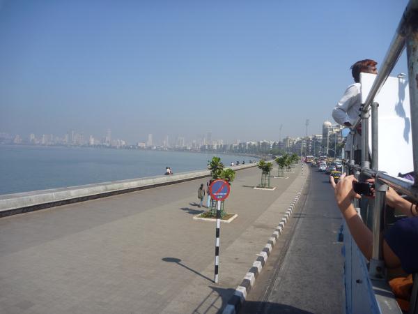 P1090808 - tournage Mumbai promenade