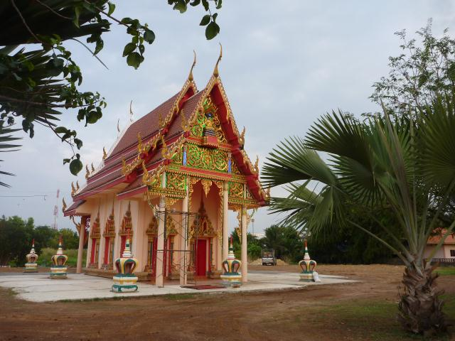 Temple bouddhiste en construction