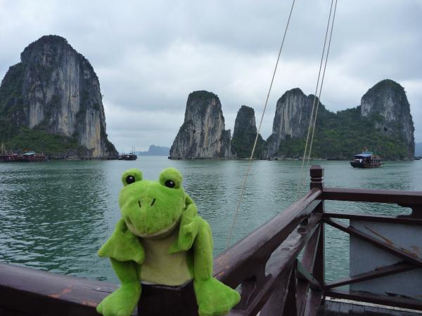 P1100776 Vietnam Halong Bay Guizmo Froggy tour du monde