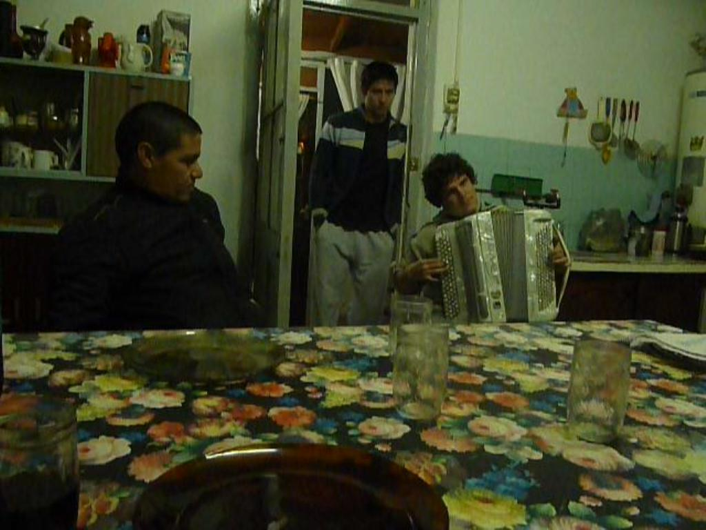 Seance d accordeon en Argentine