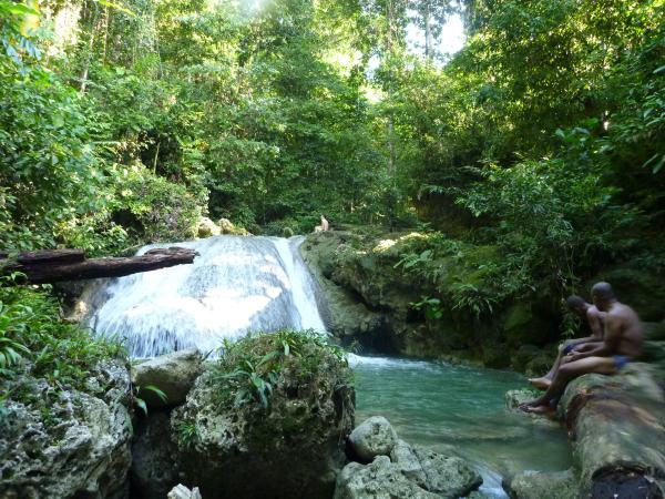 La forêt à Vanimo. Cascade où l'on peu se baigner.