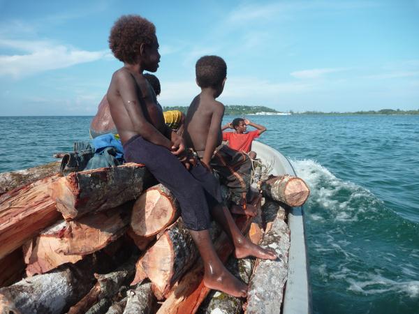 Bateau en Papouasie Nouvelle Guinée