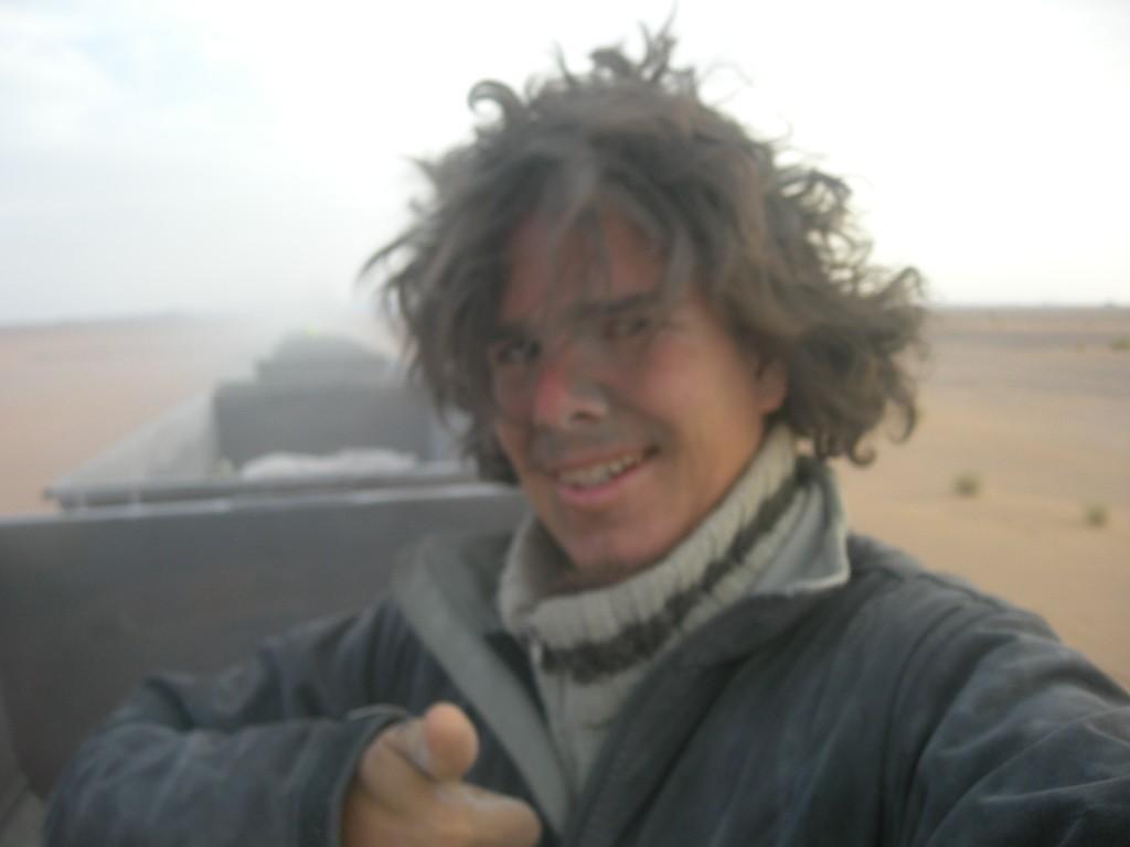 """""""Autostop"""" sur un train en mauritanie"""