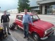p1020184 - Le stop en Italie est difficile mais beaucoup d'étrangers nous prennent en autostop ; ici un Espagnol.