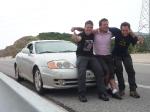 p1020857 - Sur les routes de Grèce, un Albanais nous prend en stop dans sa belle voiture de sport. C'est parti pour 2 heures de route, tout en confort !
