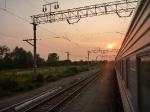p1040063g - Plein est, un lever de soleil sibérien qui nous montre le chemin vers l'Asie...