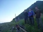 p1040391- Camping sauvage, feu de camps et pique-nique au lac Baïkal avec Julie qui nous accompagne depuis Moscou.
