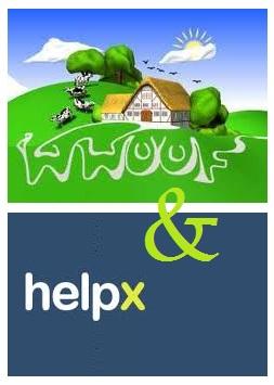 helpx et wwoofing logo