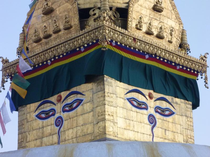 Et les yeux du Buddha qui, du haut de leur colline, surveillent la vallée de Katmandou.