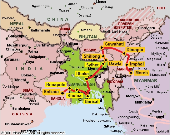 map_india_northeast_and_bangladesh