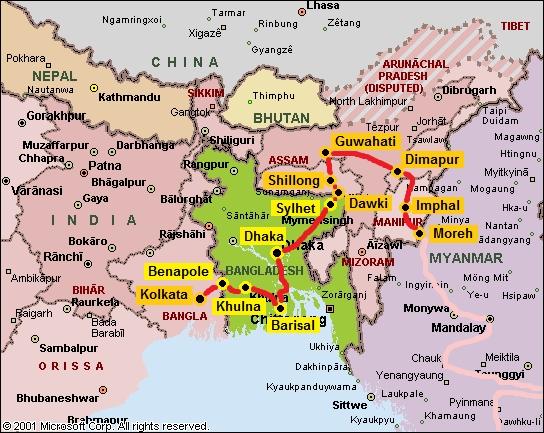 map_india_northeast_and_bangladesh