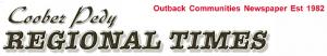 Coober Pedy Newspaper Regional Times logo