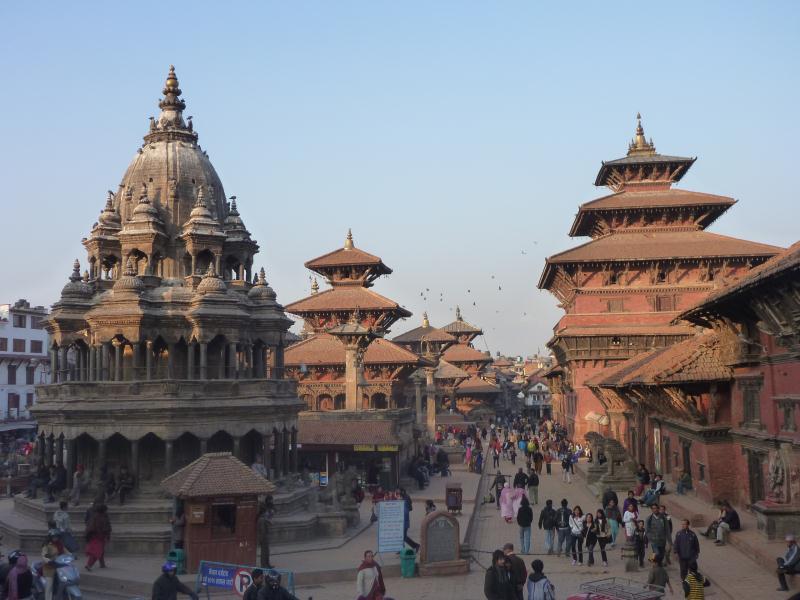 La Durbar Square de Patan. En théorie c'est 300 roupies l'entrée, mais en passant par les petites ruelles secondaires... c'est gratuit.