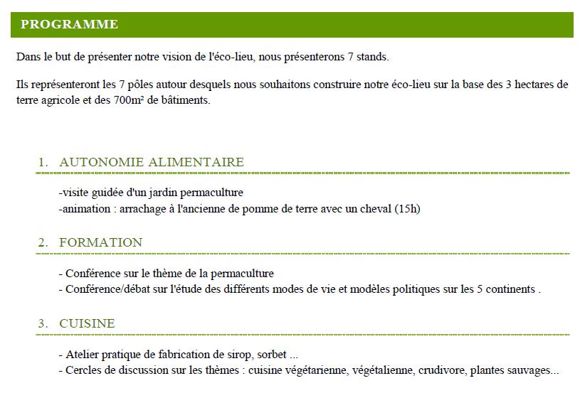 Programme fête permaculture  dans un éco-lieu en Bourgogne 3