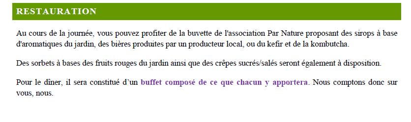 Programme fête permaculture  dans un éco-lieu en Bourgogne 8