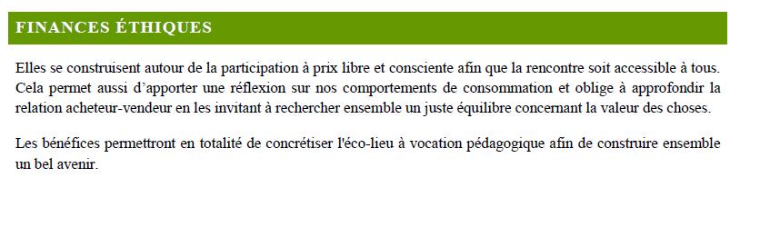 Programme fête permaculture  dans un éco-lieu en Bourgogne 9