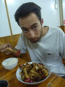 Poulet aux noisette et son bol de riz